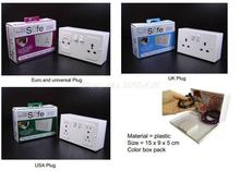 72PCS High Quality Hiding Wall Socket Electric Plug Secret Security Safe Valuable Storage Box Plastic White without Original box(China)