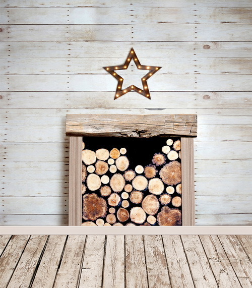 Free shipping 5x7ft fireplace photography background for photo studio pattern vinyl backdrops with wood floor CM-6713<br>
