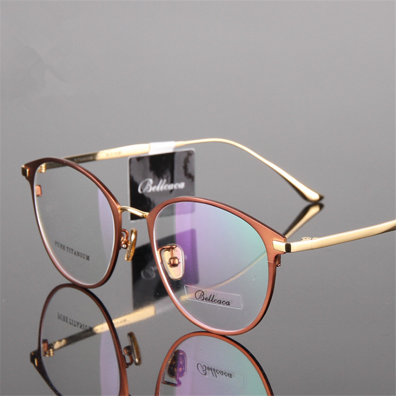 Titanium Glasses Round Nearsighted glasses Prescription Glasses Men/Women Eyeglasses High Quality Two-tone Cat Eye Glasses 950