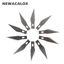 NEWACALOX 20PCS Stainless Steel Blade for Mobile Phone Films Tools Cutter Crafts Hobby Knife DIY Scalpel Wood Carving PCB Repair
