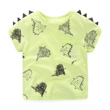 Boys T Shirt Summer Shirt Girls T-Shirt Children's Clothing Cotton Tees Cartoon Dinosaur Clothes Hot Sale Cheap Clothes