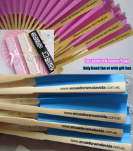 Elegant paper hand fan customized wedding gifts souvenir for guests