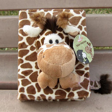 "Hot sale 1pc 6"" 100 pages stereo sweet sika deer giraffe plush animal photo album toy children baby gift"