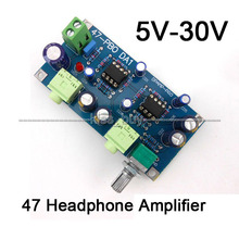 DC 5V 12V 24V Classic 47 Audio Headphone Amplifier Board NE5532 OP AMP DIY Kits