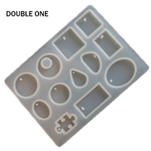 Double One 12 Designs Cabochon Silicon Mold Mould For Resin Jewelry Making DIY Craft