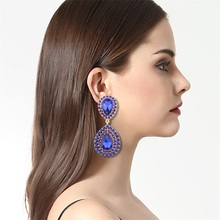 5 Colors New Hot Sale Gold Color Zircon Gem Big Brand Dangle earrings Small Dangler for Women Fashion Jewelry(China)