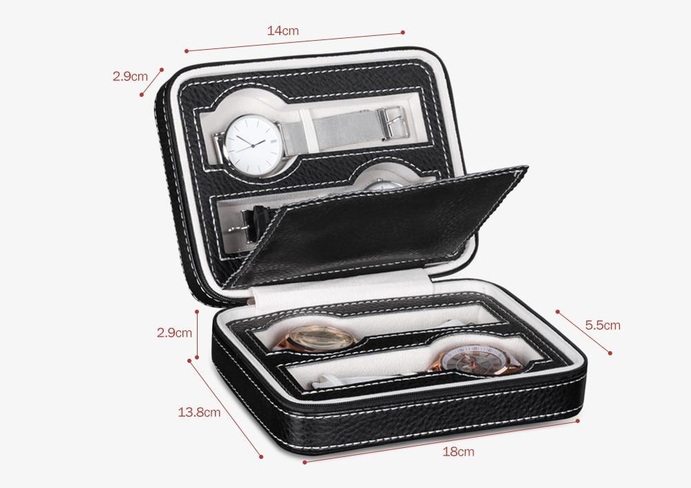 Portable 4-position Storage Watch Display Box