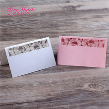 40pcs Laser Cut Paper Card Wedding Favors Table Name Place Card Party Favors Wedding Place Paper Card Wedding Decoration(China)