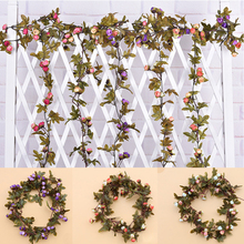 2Pcs String Style Chic Hot New Flower Garland Pink Rose Wedding Vintage(China)
