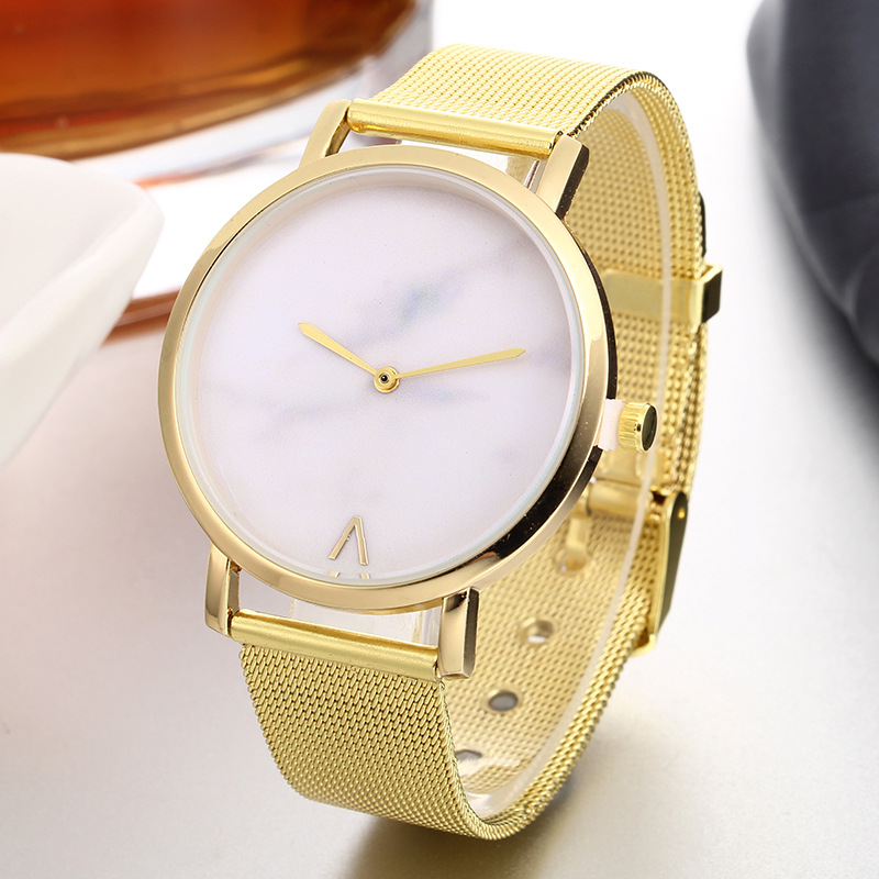 hot fashion womens watches creative marble pattern dial quartz wrist watches free shipping (4)