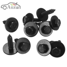 10PCs Universal Self Tapping Screw & Washers 4.8 x 19 mm Black 8mm Hex Head For BMW(China)