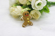 20pcs/lot Gingerbread Man Men Hand Made Christmas Cookie Christmas 3D Resin Cookie flat back kawaii Cabochon(China)