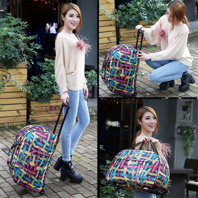 2017-New-Quality-Rolling-Luggage-Trolley-Bag-Women-Travel-Bags-Metal-Hand-Trolley-Female-male-Bag