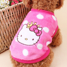 Super Warm Flannel Baby Dog Clothes Cute Cartoon Puppy Winter Clothing Small Dogs Kitten Kitty Newborn Baby Pets - 3 styles