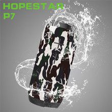 HOPESTAR P7 Wireless WaterProof Bluetooth Speaker IPX6 Column Box Bass Mini Subwoofer Portable Charge Source With TF USB FM Mic(China)