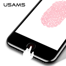 USAMS for iPhone 8 Aluminum Touch ID Home Button Sticker for iPhone SE/5S/6/6S/7/8 iPad Fingerprint Touch key Protect Stickers(China)