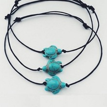 Vintage Antique Animal Cute Turtle Charm Pendant Anklets Chain Ankle Bracelet Barefoot Sandal Beach Foot Jewelry(China)