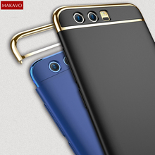 MAKAVO For Huawei Honor 9 Case 3in1 Matte Fundas Hard Back Cover Creative Housing Honor9 Phone Cases