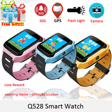 2017 New Q528 Y21 Touch Screen Kids GPS Watch with Camera Lighting Smart Watch Sleep Monitor GPS SOS Baby Watch PK Q750 Q90(China)