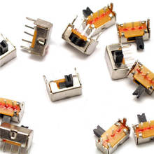 10Pcs Toggle switch SK12D07VG3 stents Small toggle switch/3 mm high Miniature Slide Switch Side Knob