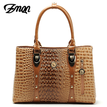 Women Bag 2017 Bag Handbags Women Famous Brands Luxury Designer Handbag High Quality Crocodile Leather Tote Hand Bag Ladies B051