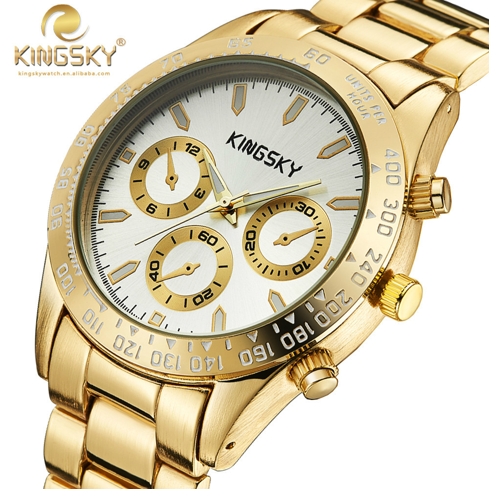 Woman Watches 2015 Brand Luxury KINGSKY Women Gold Casual Watches Brand Famous Quartz-watch Fashion Reloj Mujer  Wristwatches<br><br>Aliexpress