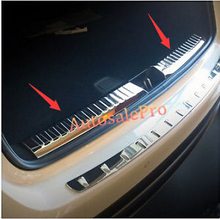 Steel Inner Rear Bumper Protector Guard Plate Cove Sill Trim 2pcs For Mercedes Benz GLA X156 2014 2015