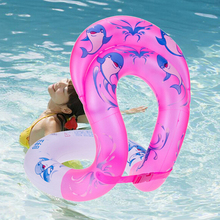 SWAMPLAND Dual Airbags Swim Ring Adult Kid Learning Swimming Float Seat Arm Aquatic Float Swim Aid Vest Thickening Floats Circle(China)