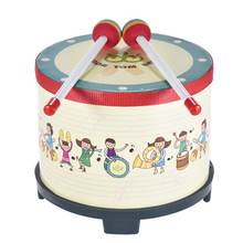8 Inch Wooden Floor Drum Gathering Club Carnival Percussion Instrument Early Learning Musical Drum Toy for Kids Children(China)