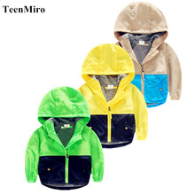 Hooded Children Windbreaker Spring jackets for Boys Jacket Coat Girls Clothes Kids Outerwear Minnie Costume Toddler Blazer