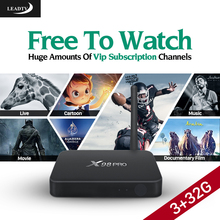 Original 3G 32G X98PRO Android 6.0 TV Box Amlogic S912 with 1 Year LEADTV Code IPTV Subscription Arabic French Channels IPTV Box