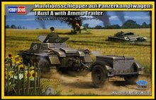 Hobby Boss 1/35 scale tank models 80146 Type 1 chariot type A and uniaxial traction weapon transport towing card(China)
