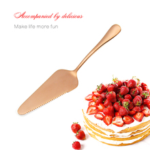 2017 Hot Rose Gold Pastry Dough Cutter Cake Scraper Bake Cake Knife Bread Cake Spatula Wedding Cake Decorating Knife erving set