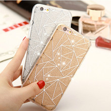 Soft Case for Iphone 6 6s Plus TPU Cover Bling Luxury Princess Star Lozenge Argyle Flashing Grain Women Lady Business New(China)