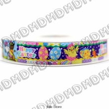 Easter Day 6mm-75mm Happy Chicks  Printed Grosgrain Ribbon DIY Handmade Hair Accessories 50 Yards MD1501230-22-3177