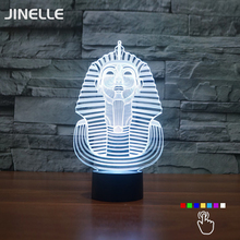 Pyramid Sphinx 3D LED Night Light 7 Color Dimming illusion Bedroom Lamp Holiday Light Novelty Kids Toys For Christmas Party