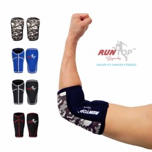 RUNTOP Neoprene Elbow Sleeves Crossfit Weight Lifting Powerlifting Workout Fitness Knee Brace Cap Pads Support Compression(China)