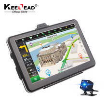 "KEELEAD 7"" screen HD Car GPS Navigation 800Mhz CPU 128MB/256MB RAM 4GB/8GB ROM NAV + (Bluetooth / AV-IN /rearvie camera)optional(China)"