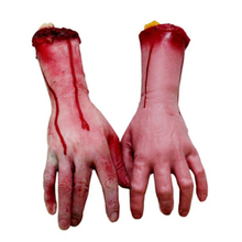 Scary Funny Broken Finger Hand Sent BY Random Blood Halloween Decoration Severed Simulate Hand Dead Broken Hand Gadgets COA0018