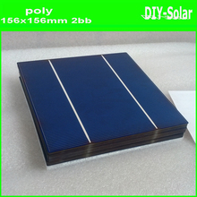 4.3W 156mm 2BB Polycrystalline Solar Cell 6x6,buy 17.6%-17.8% high-efficiency A-grade cheap solar cells  for DIY PV Solar Panels