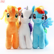 18CM 6 Colors Fresh Plush Unicorn Horse Stuffed Animals Toys Baby Infant Girl Toys Birthday Gift Rainbow Dash Princess Luna poni