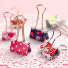 Hot Sale 24pcs/box 19mm 25mm Mini Cute Kawaii Metal Holder Paper Clips Office Accessories Clip Binder Paperclip Clamps