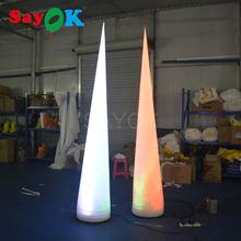 cheap inflatable party events cone,2-3mH advertising white fabric cone with free shipping for sale(China)