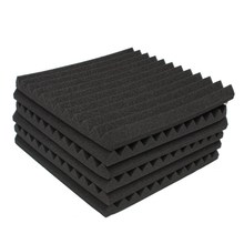 "MTGATHER 12Pcs Soundproofing Acoustic Studio Absorbing Wedge Foam 12"" x 12"" x 1"" Tiles Wall Panels Suitable For Sound Studio(China)"