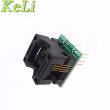 TIEGOULI 1PCS/LOT SOP8 to DIP8 SOP8 turn DIP8 SOIC8 to DIP8 IC socket Programmer adapter Socket for wide 150mil