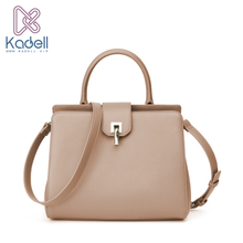 Kadell 2017 Winter Fashion Handbags Women Famous Brands High Quality Bolsa Feminina Single Lock Catch Shoulder Bag PU Leather(China)