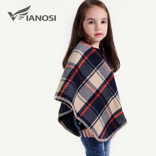 VIANOSI Fashion Children Shawl Poncho Girl Winter Warm Scarves kids Scarf CH011(China)