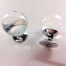 10pcs 30mm Crystal Cabinet Drawer Knobs Furniture Hardware Dresser Glass Wardrobe Handles Closet Pulls Cupboard Shoes Box Knobs