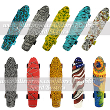 "peny skate board deck mini longboard combo sale 22"" Mini skate trucks professional fish scooters for kids with free shipping"