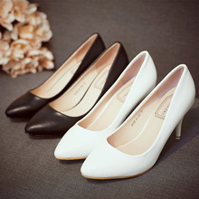 2017 fashion new professional women's high heels shoes shallow mouth pointed shoes small shoes manufacturers wholesale